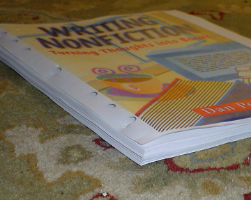 Do it yourself book binding tutorial part 2 diy bookbinding 1 stack your pages together in order if you want to make a book with pages smaller than 8 12 x 11 inches you can fold the pages in half and then stack solutioingenieria Choice Image